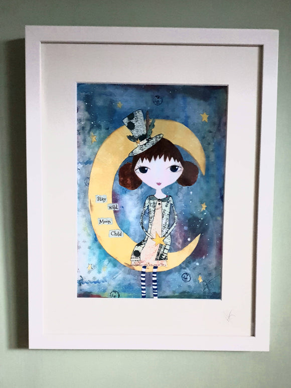 Polly Moon Framed Print - The Biscuit Marketplace