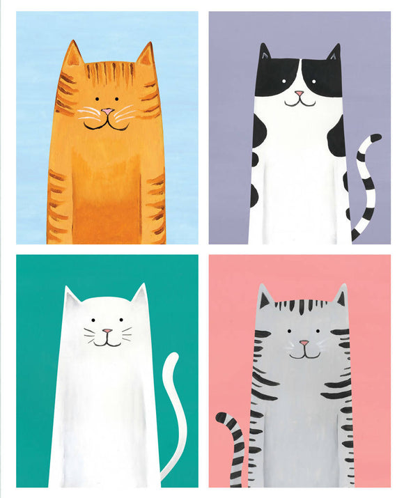 'Cool Cats' signed giclée print - The Biscuit Marketplace