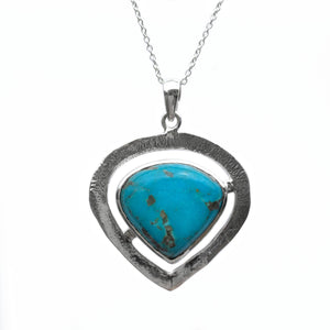 """Tribal Heart"" Turquoise Pendant - The Biscuit Marketplace"