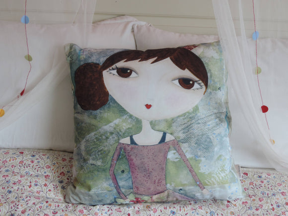 'Pink Polly' Cushion - The Biscuit Marketplace