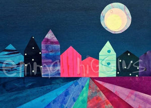 Town 'Night time' Print