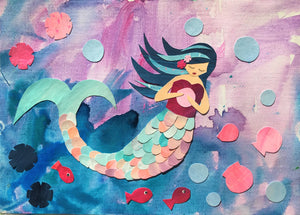'Pearl' Mermaid print - The Biscuit Marketplace