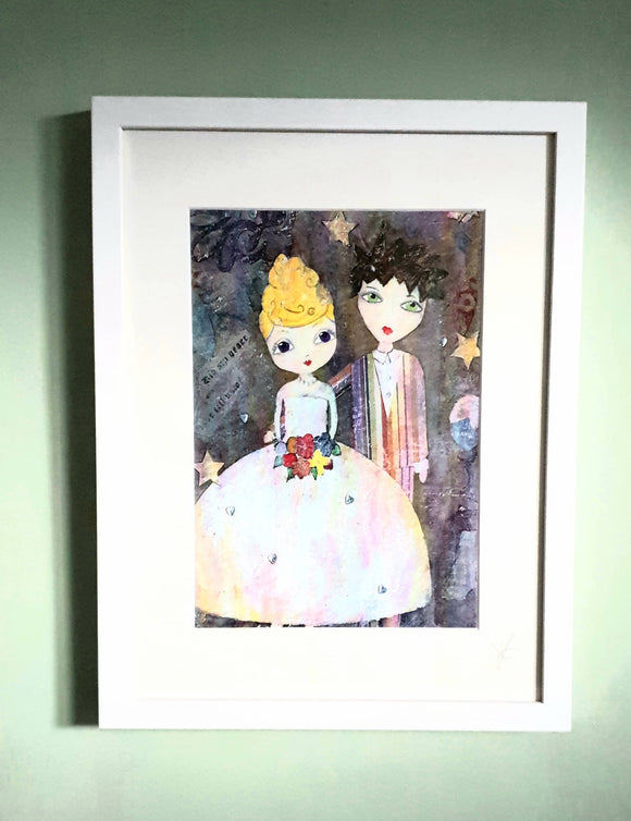 The Bride & Groom Framed Print. - The Biscuit Marketplace