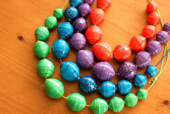 Paper Bead Statement Necklace - The Biscuit Marketplace