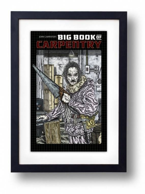 John Carpenter's Big Book of Carpentry (Fictional BookCover) - Illustration Print - The Biscuit Marketplace