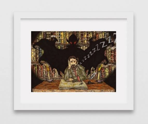 Bram Stoker - Comic Illustration Print - The Biscuit Marketplace