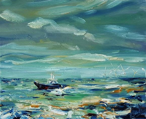 Stormy seas and Howling winds SOLD