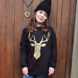 Kids Geometric Stag Sweater - The Biscuit Marketplace