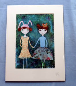 The Polly Dolly sisters Print - The Biscuit Marketplace