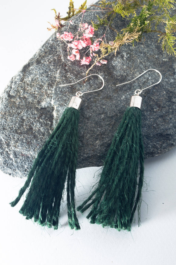 Jute String Earrings - The Biscuit Marketplace