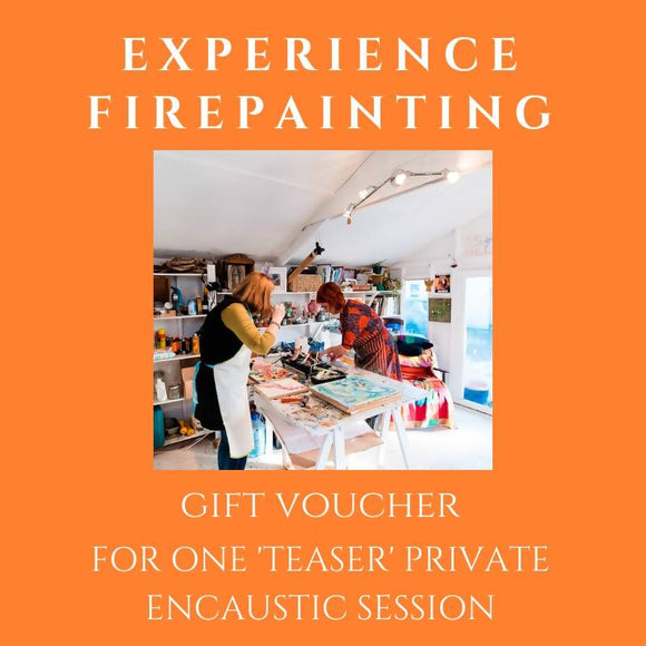 3 hours 'teaser' Private Encaustic Session Gift Voucher - The Biscuit Marketplace