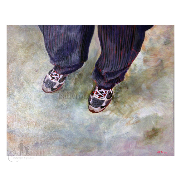 Valdimar's Feet by Andrew Manson 50 x 40cm Acrylic Painting Framed - The Biscuit Marketplace