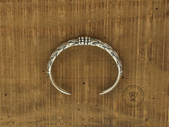 Falster Viking Arm Ring Sterling Silver L size / Handcrafted Viking Jewellery - The Biscuit Marketplace