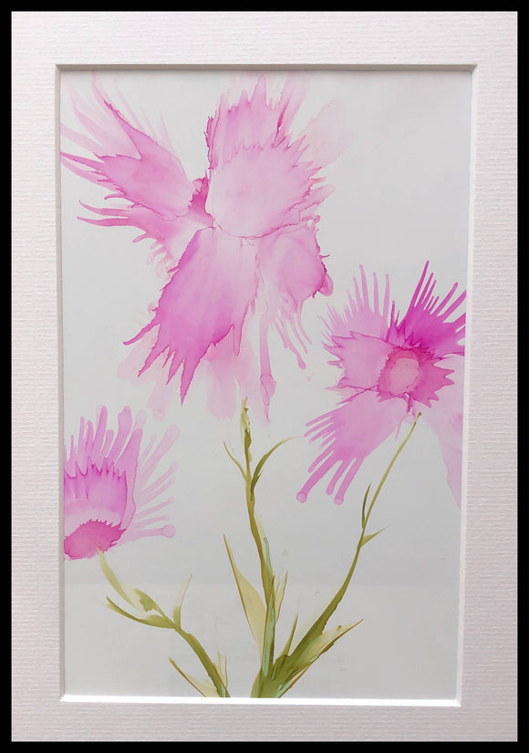flowers painting pink 7 - The Biscuit Marketplace