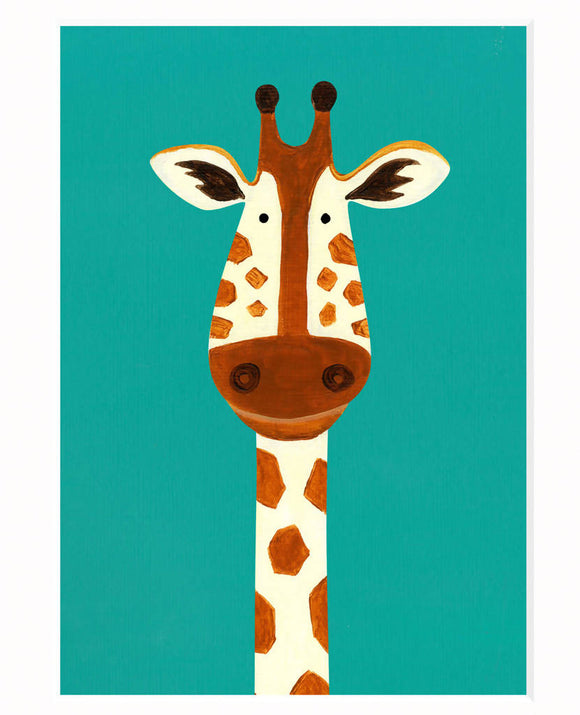 'Gerry Giraffe' signed giclée print - The Biscuit Marketplace