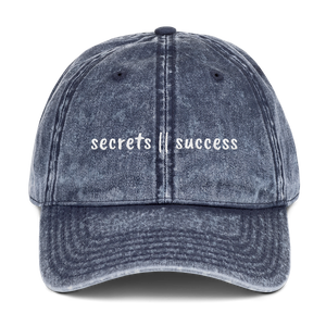 Vintage secrets || success Dad Hat
