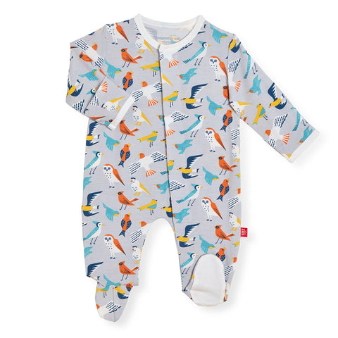 early bird magnetic baby footie