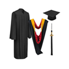 Bachelor's Degree Cap, Gown, Tassel & Hood Packages