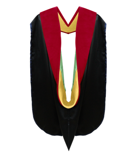 IN-STOCK GRADUATION DOCTORAL HOOD - SCARLET VELVET - Graduation Cap and Gown