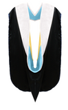 IN-STOCK GRADUATION DOCTORAL HOOD - WHITE VELVET - Graduation Cap and Gown