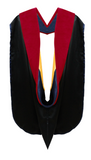 IN-STOCK GRADUATION DOCTORAL HOOD - RED VELVET - Graduation Cap and Gown