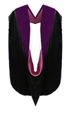 IN-STOCK GRADUATION DOCTORAL HOOD - PURPLE VELVET - Graduation Cap and Gown