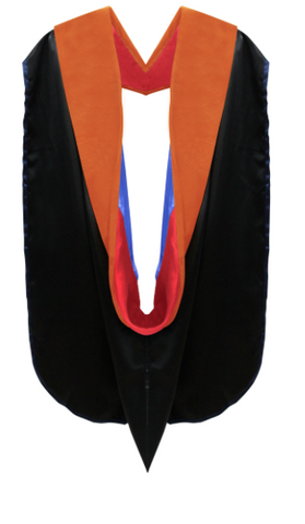 IN-STOCK GRADUATION DOCTORAL HOOD - ORANGE VELVET - Graduation Cap and Gown