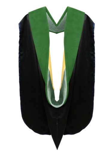 IN-STOCK GRADUATION DOCTORAL HOOD - KELLY GREEN VELVET - Graduation Cap and Gown