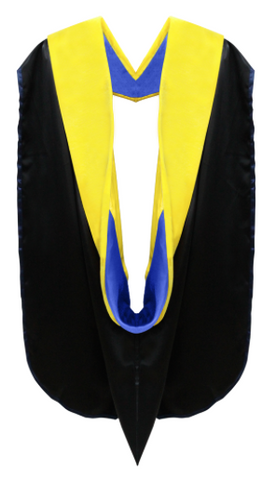 IN-STOCK GRADUATION DOCTORAL HOOD - GOLDEN YELLOW VELVET - Graduation Cap and Gown