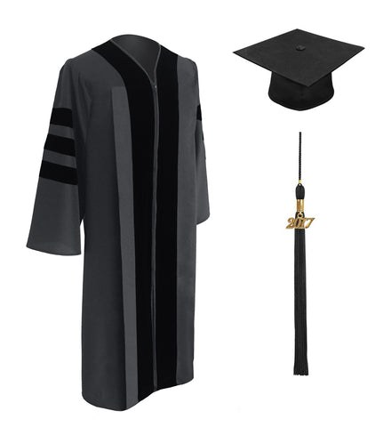 Classic Doctoral Graduation Cap & Gown - Academic Regalia - Graduation Cap and Gown