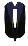 IN-STOCK GRADUATION DOCTORAL HOOD - DARK BLUE VELVET - Graduation Cap and Gown