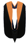 IN-STOCK GRADUATION DOCTORAL HOOD - APRICOT VELVET - Graduation Cap and Gown