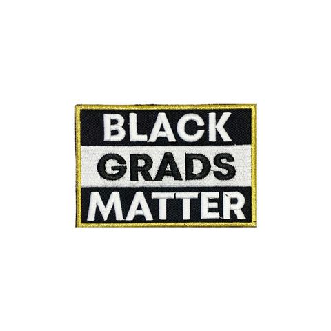 Royal Blue BLACK GRADS MATTER Graduation Stole