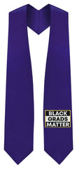 Purple BLACK GRADS MATTER Graduation Stole