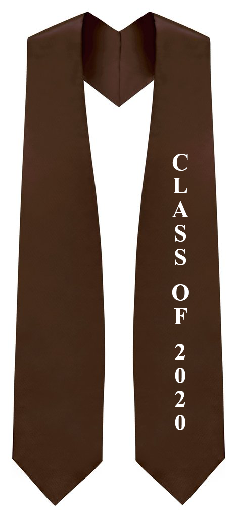 "Brown ""Class of 2020"" Graduation Stole - Stoles.com"