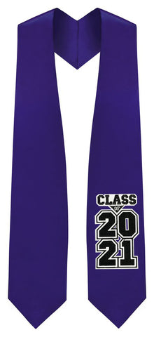"Purple ""Class of 2021"" Graduation Stole"