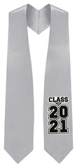 "Silver ""Class of 2021"" Graduation Stole"