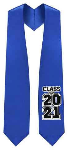 "Royal Blue ""Class of 2021""  Graduation Stole"