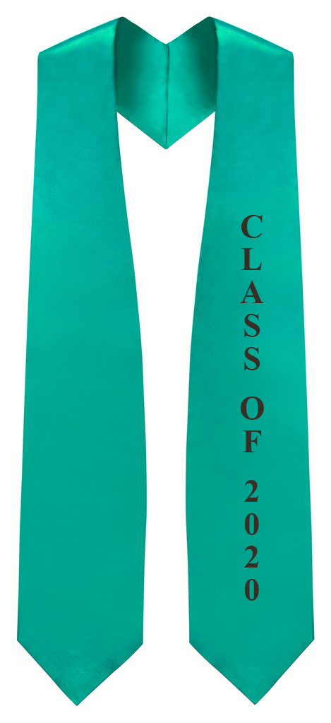 "Emerald Green ""Class of 2020"" Graduation Stole - Stoles.com"