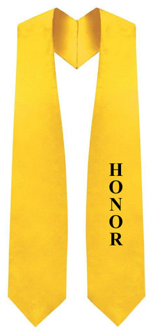 Gold Honors Stole for Graduation - Graduation Cap and Gown