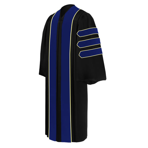 PhD Blue Doctoral Gown - Academic Regalia - Graduation Cap and Gown