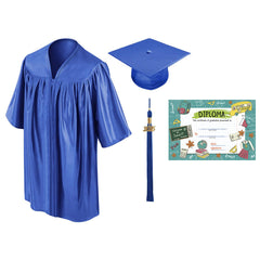 Child Graduation Cap & Gown & Diploma Package - Preschool & Kindergarten - All Colors Available