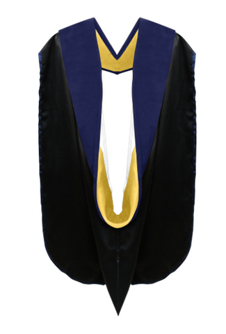 IN-STOCK PHD GRADUATION DOCTORAL ACADEMIC HOOD - GOLDEN YELLOW & WHITE