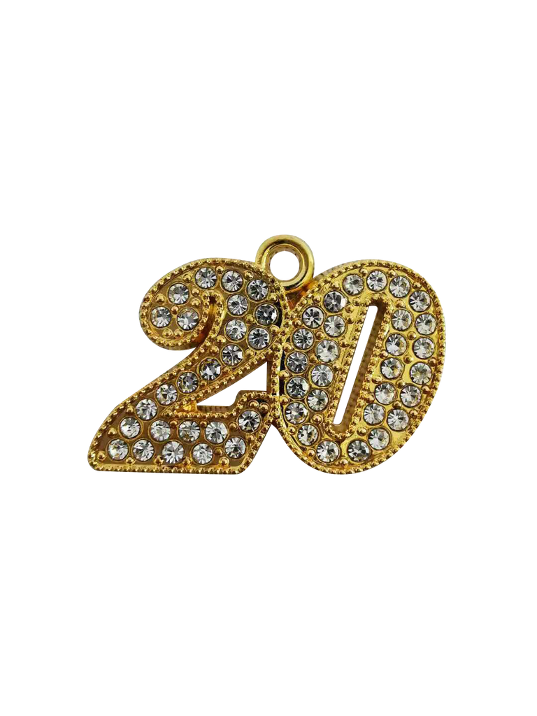 "2020 ""Bling"" Year Date Drop - Graduation Cap and Gown"