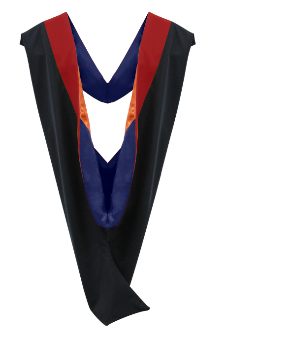 IN-STOCK GRADUATION MASTER HOOD -  SCARLET VELVET - Graduation Cap and Gown