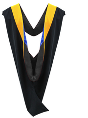 IN-STOCK GRADUATION MASTER HOOD -  GOLDEN YELLOW/MAIZE VELVET - Graduation Cap and Gown