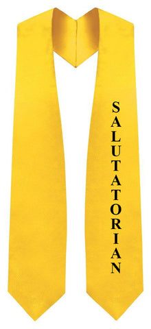 Gold Salutatorian Stole for Graduation - Graduation Cap and Gown