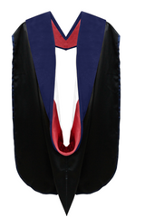 Phd Hood Dark Blue Velvet - Red & White