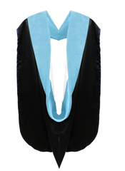 Doctor of Education Hood - Light Blue & White