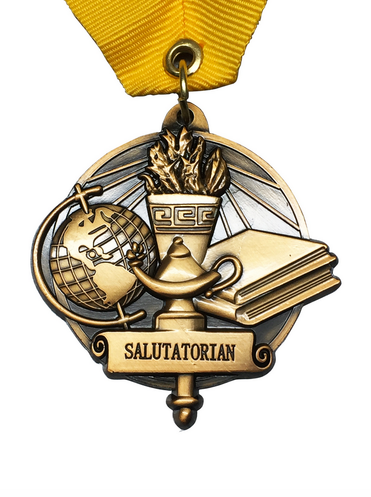 Salutatorian Graduation Medal - Graduation Cap and Gown